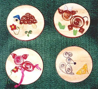 Quilling magnets