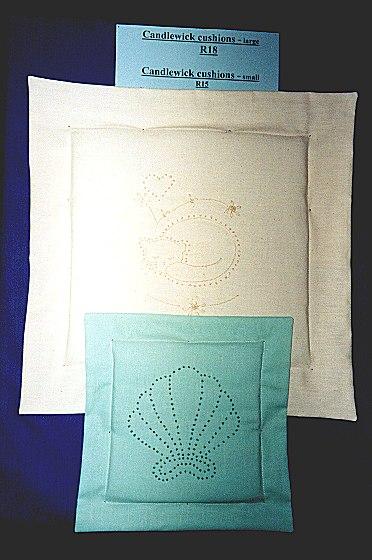 Candlewick cushions
