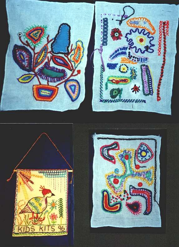 Modern embroidery sampler