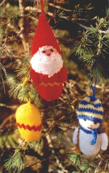 Knitted Xmas Decorations