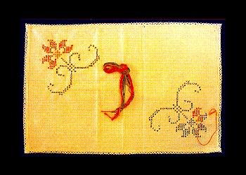 Printed Cross Stitch Tray Cloth