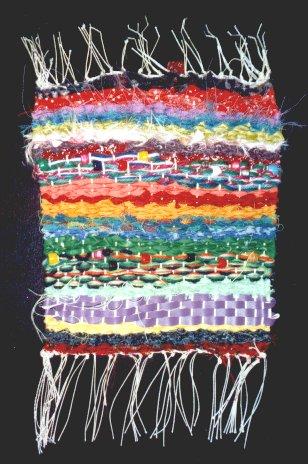 Rag Weaving Wall Hanging