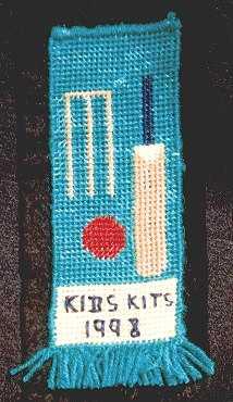 Cricket scene bookmark