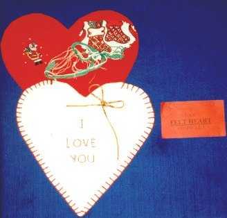 Felt Gift Wrap Heart