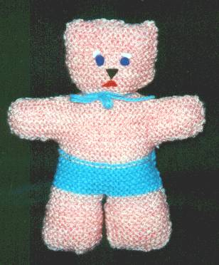 Knitted Pink Teddy