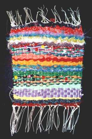 Rag Weaving Wall Hanging