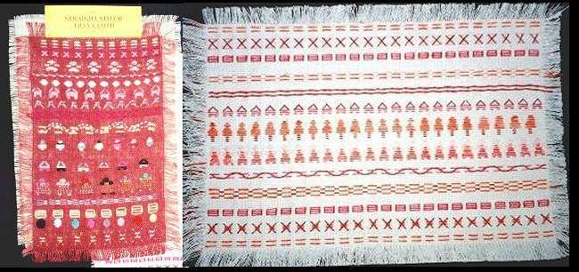 Straight stitch tray cloth